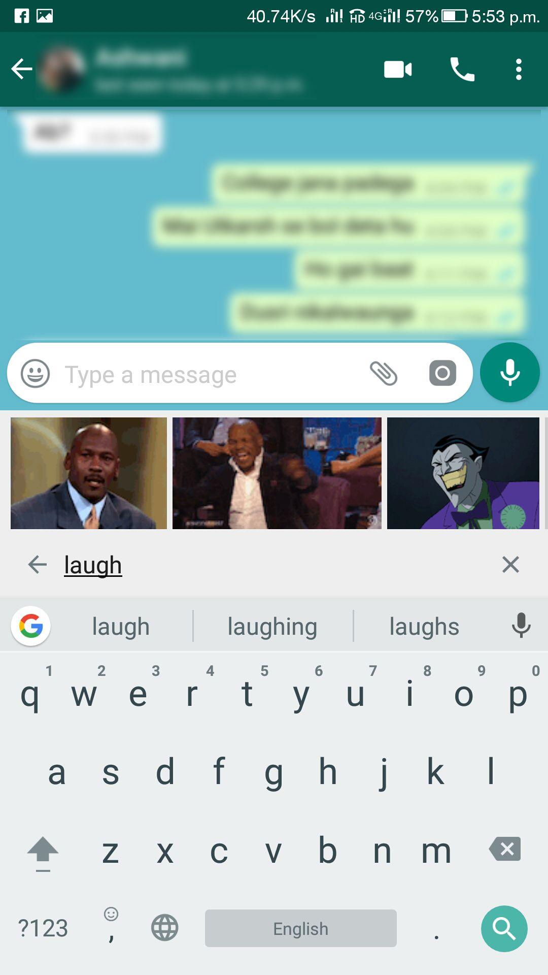 WhatsApp GIF Search
