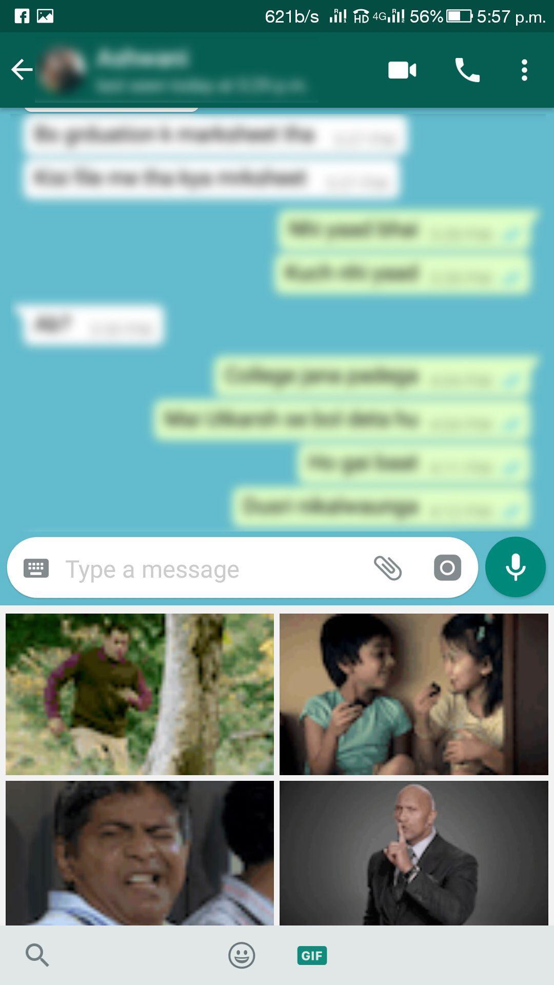 Sending GIF in WhatsApp