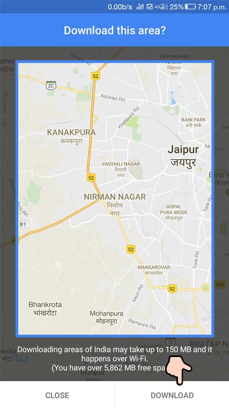 Maps Offline Step 3