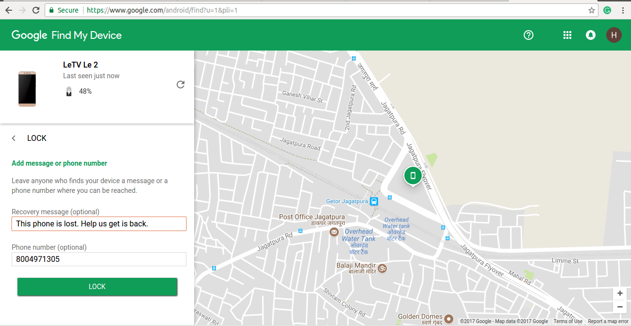 Lost Android on Map