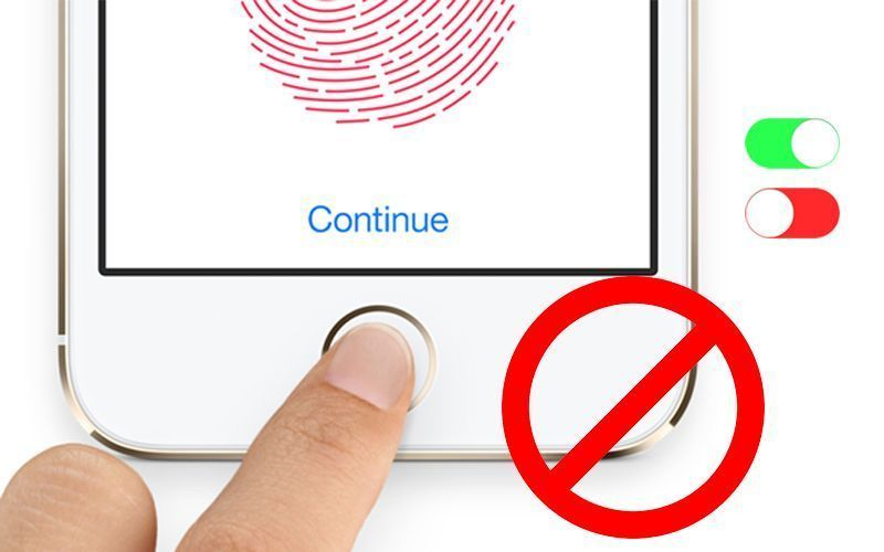 touch id disable