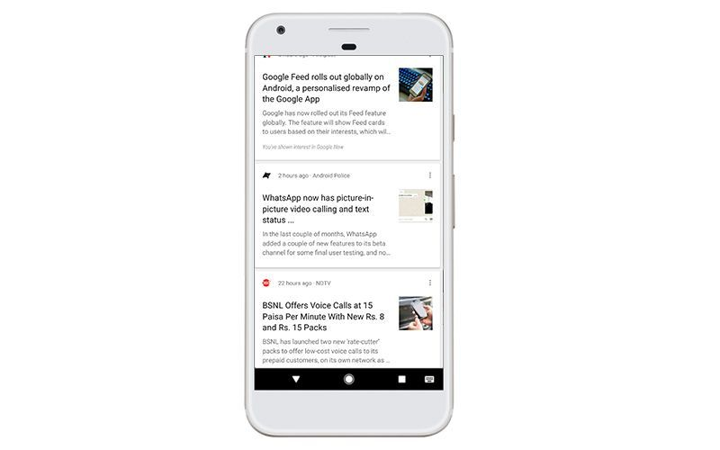 Google rolls out new feed for Indian users